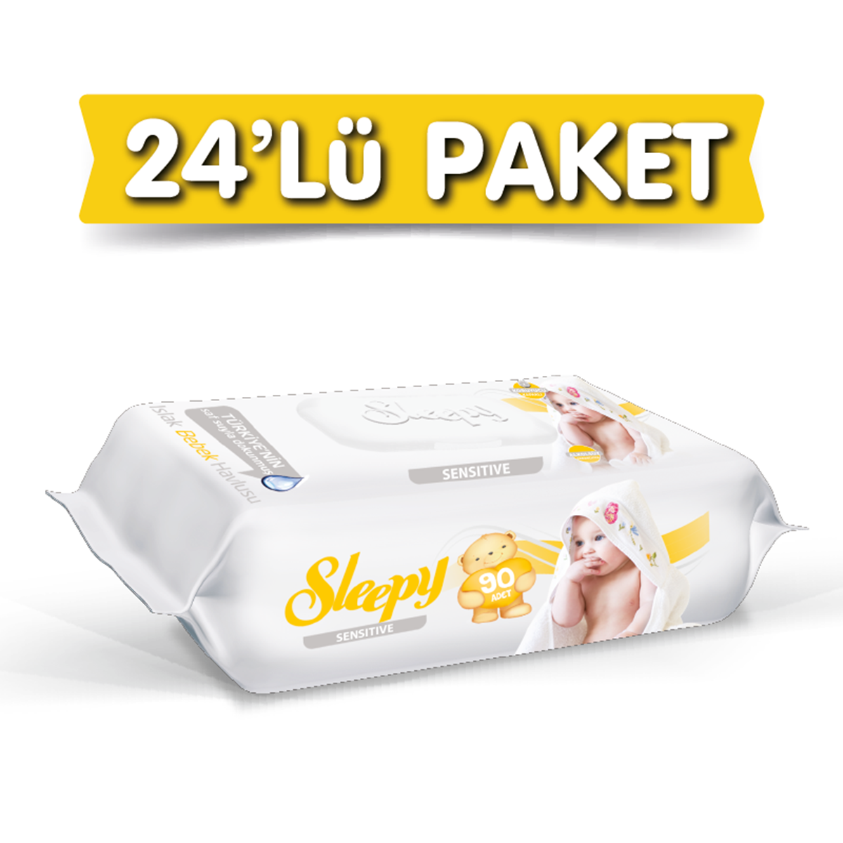 Sleepy Sensitive Islak Havlu 24X90 lı