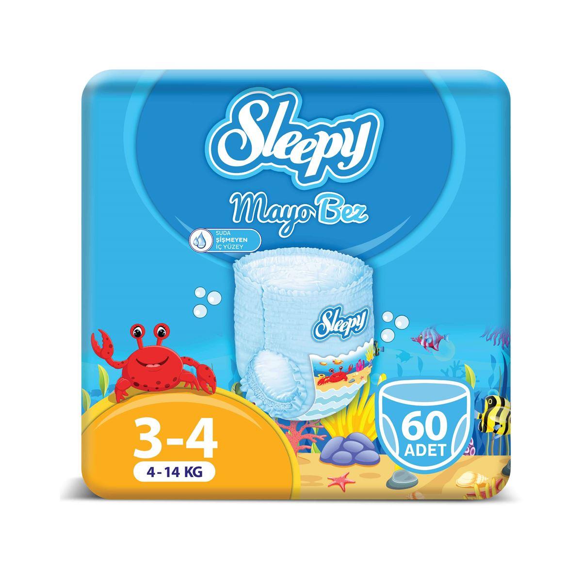 Sleepy Mayo KÜLOT Bez 4 Numara Maxi 3'LÜ PAKET 60 Adet