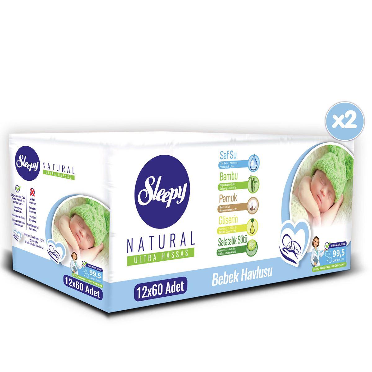 Sleepy Natural Bebek Havlusu 24X60