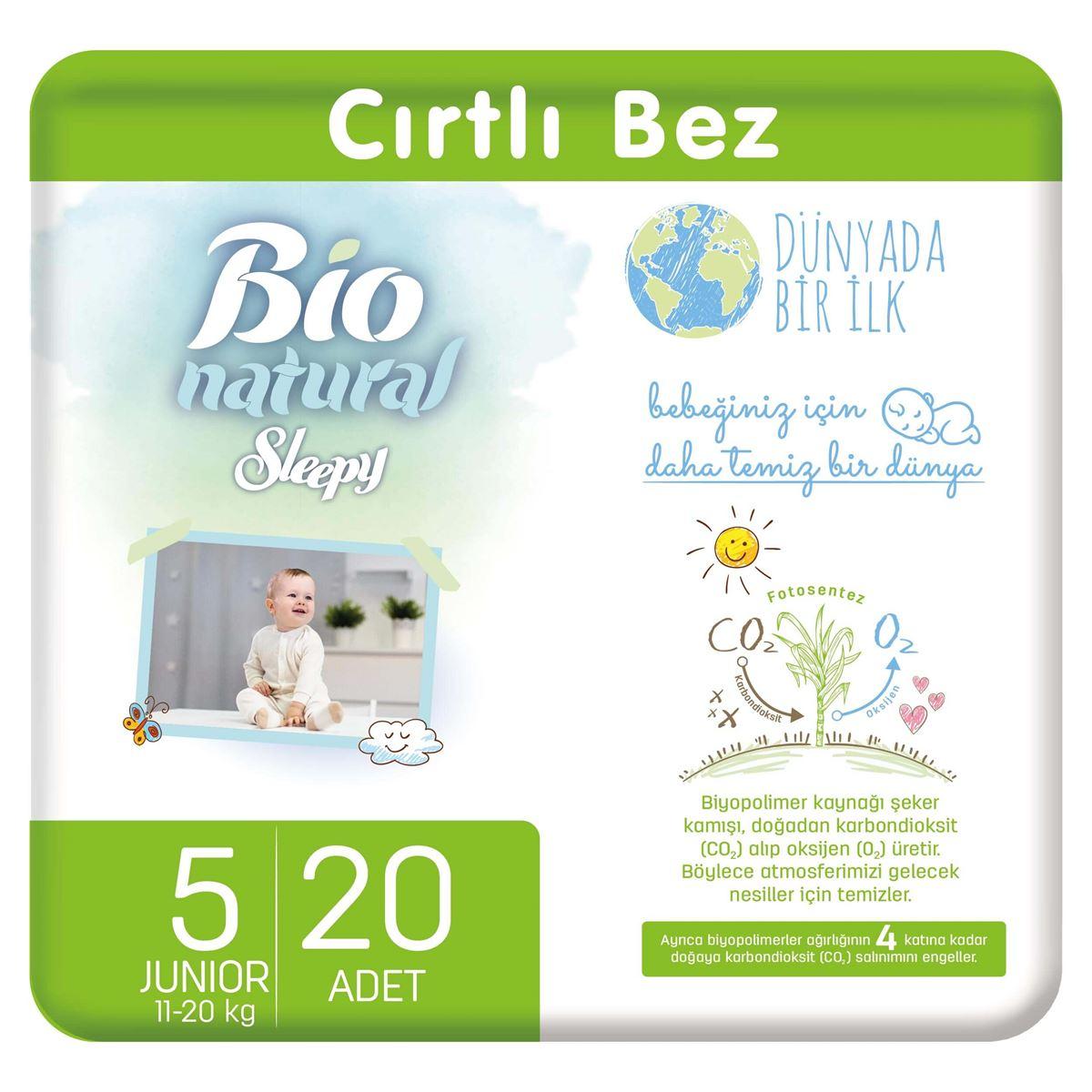 Bio Natural Bebek Bezi 5 Numara Junior 20 Adet