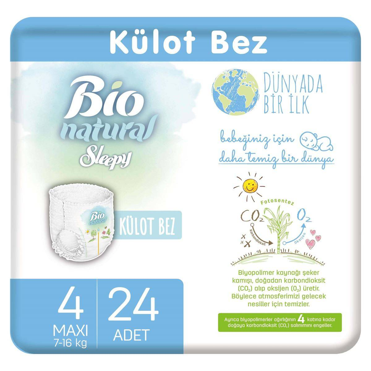 Bio Natural Külot Bez 4 Numara Maxi 24 Adet