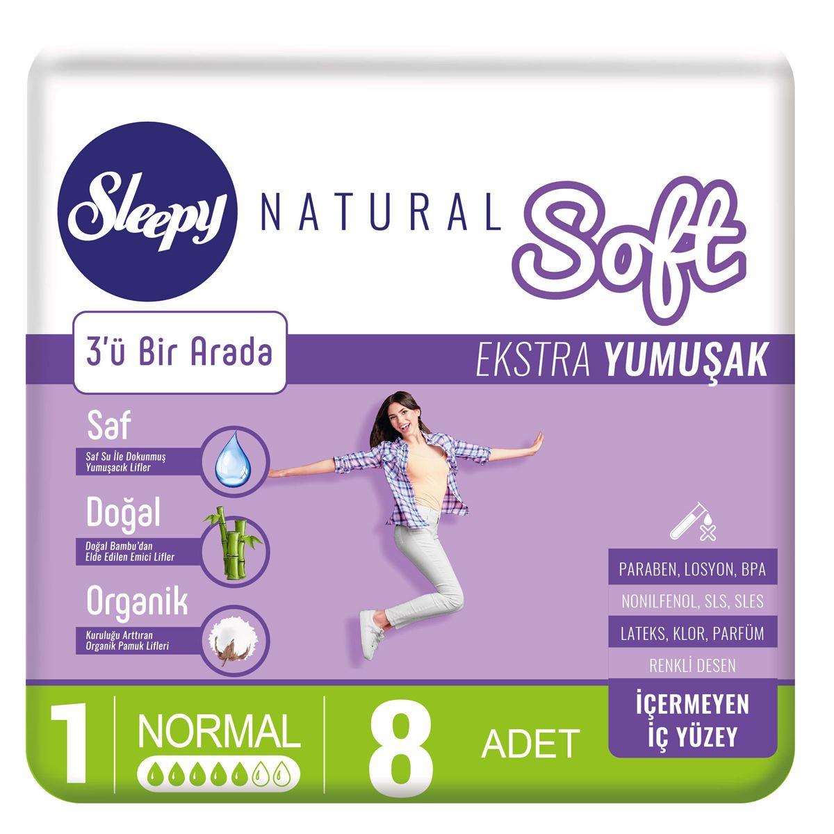 Sleepy Natural Soft Ekstra Yumuşak Normal (8 Ped)