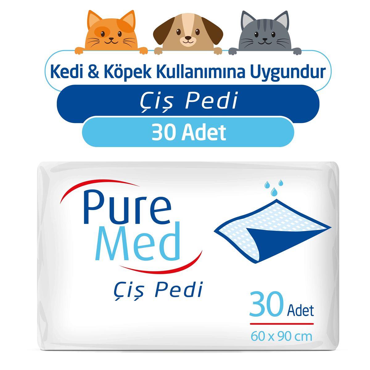 Puremed 60x90 cm Kedi Köpek Çiş Pedi 30 Adet