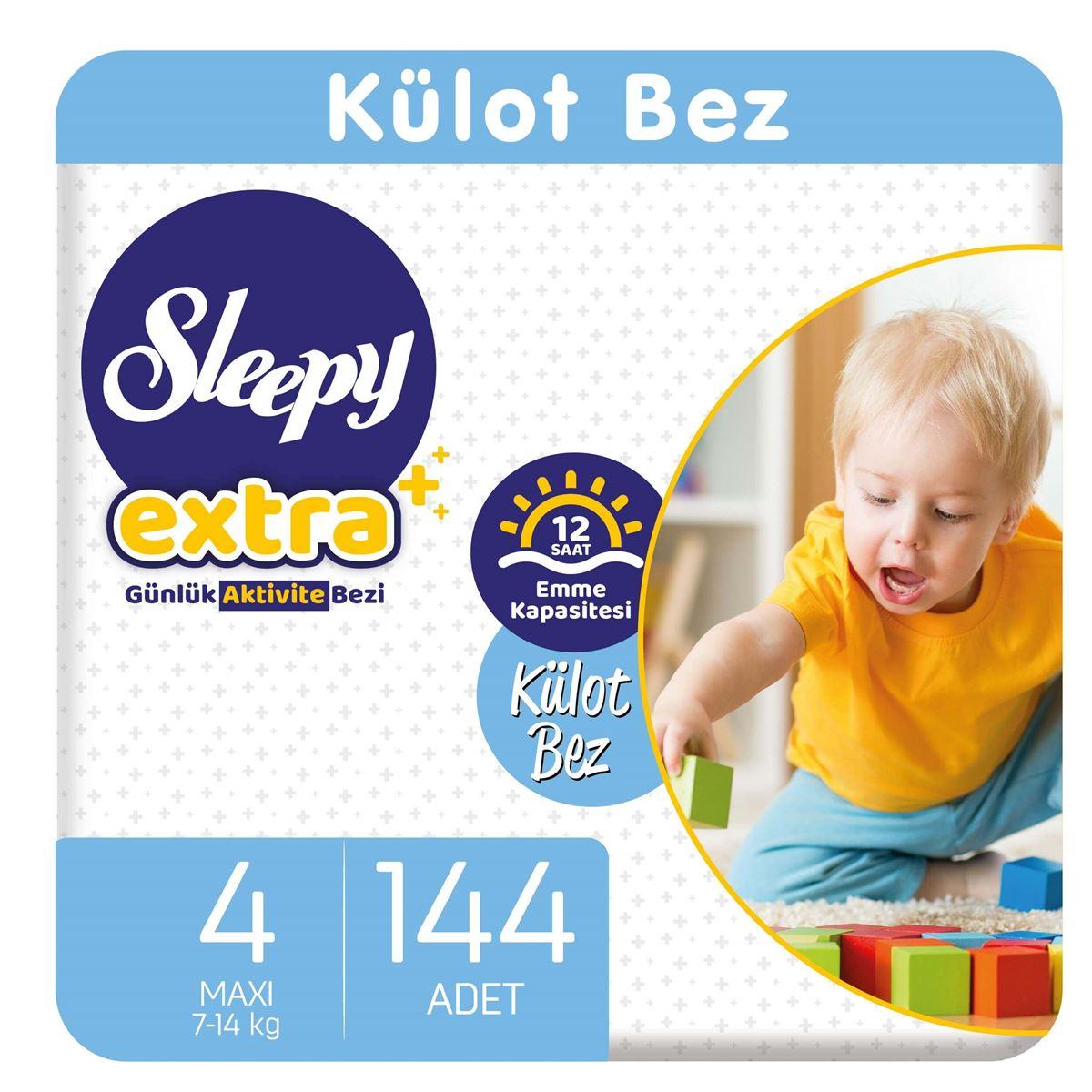 Sleepy Extra Günlük Aktivite Külot Bez 4 Numara Maxi 144 Adet