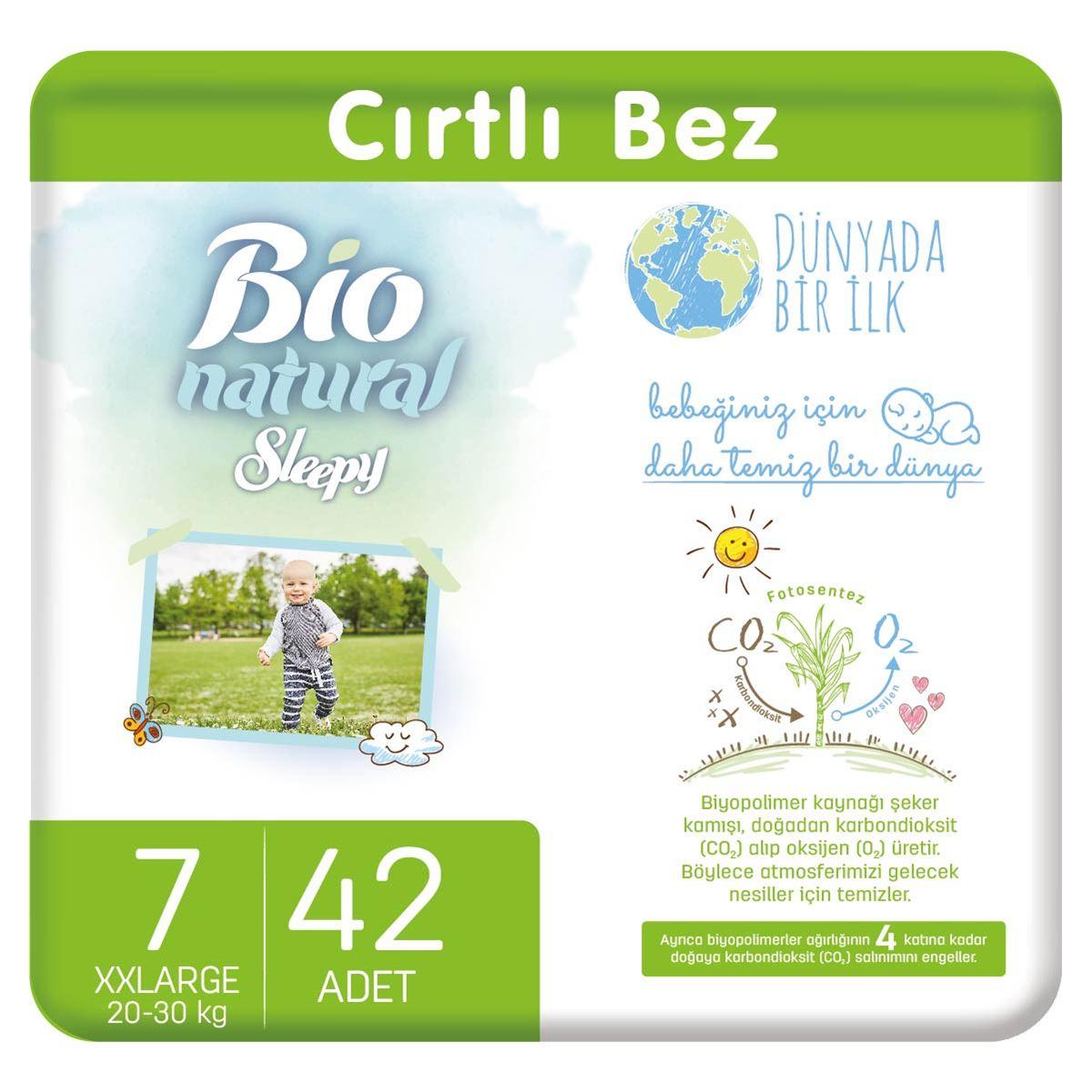 Bio Natural Bebek Bezi 7 Numara XXLarge 42 Adet