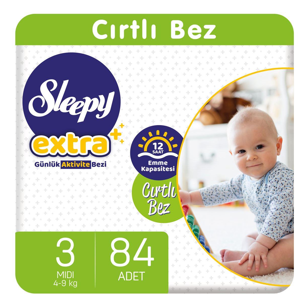 Sleepy Extra Günlük Aktivite Bezi 3 Numara Midi 84 Adet
