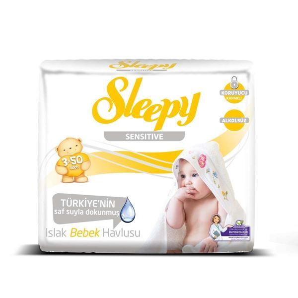 Sleepy Sensitive Islak Havlu 3x50