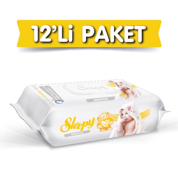 Sleepy Sensitive Islak Havlu 12X90 lı