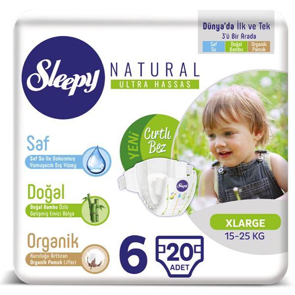 Sleepy Natural Bebek Bezi 6 Numara Xlarge 20 Adet