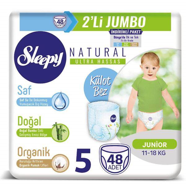 Sleepy Natural KÜLOT Bez 5 Numara Junior 2'Lİ JUMBO 48 Adet