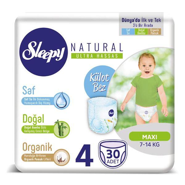 Sleepy Natural KÜLOT Bez 4 Numara Maxi 30 Adet