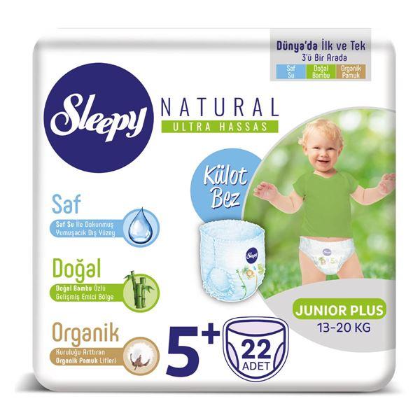 Resim Sleepy Natural KÜLOT Bez 5+ Numara Junior Plus 22 Adet
