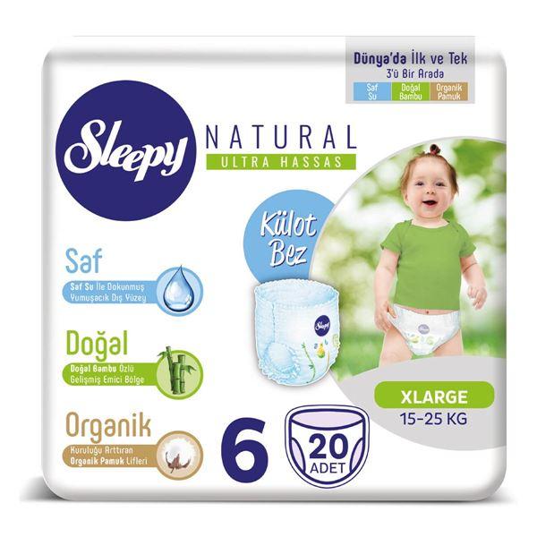Sleepy Natural KÜLOT Bez 6 Numara Xlarge 20 adet