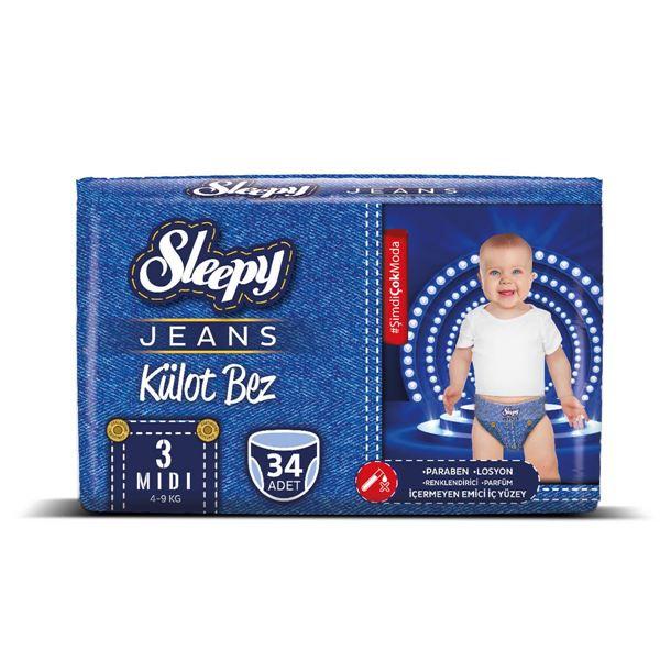 Sleepy Jeans KÜLOT Bez 3 Numara Midi 34 Adet