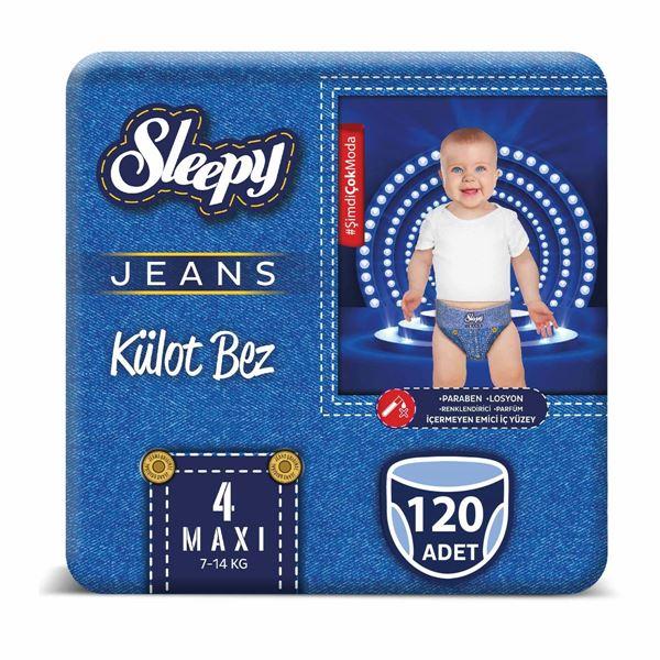 Sleepy Jeans KÜLOT Bez 4 Numara Maxi 4'lü Jumbo 120 Adet