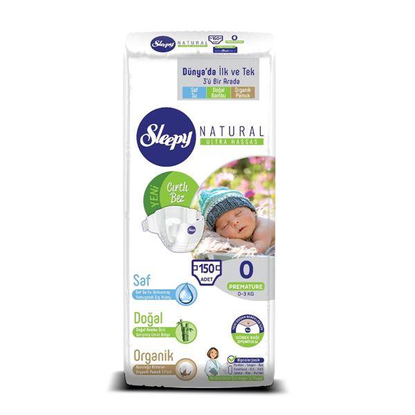 Sleepy Natural Bebek Bezi 0 Numara Prematüre Süper Fırsat Paketi 150 Adet