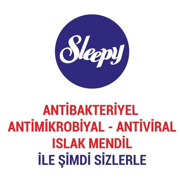 Sleepy Antibakteriyel Islak Havlu 50 li Gri paket