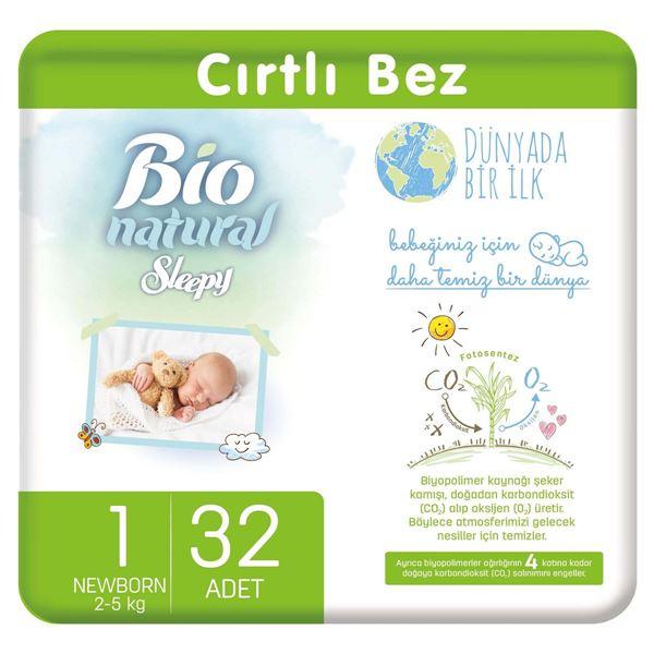 Resim Bio Natural Bebek Bezi 1 Numara Yenidoğan 32 Adet