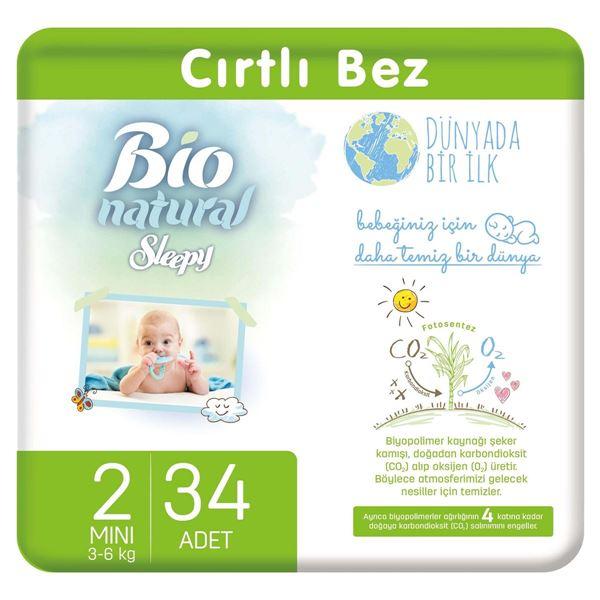 Resim Bio Natural Bebek Bezi 2 Numara Mini 34 Adet