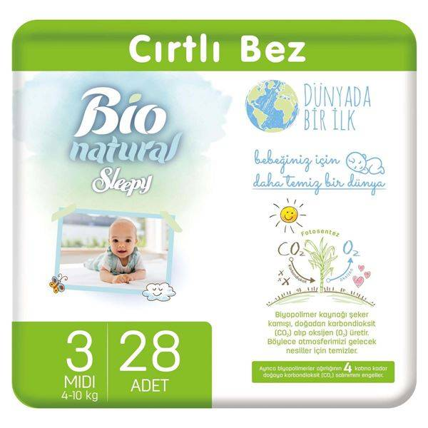 Resim Bio Natural Bebek Bezi 3 Numara Midi 28 Adet