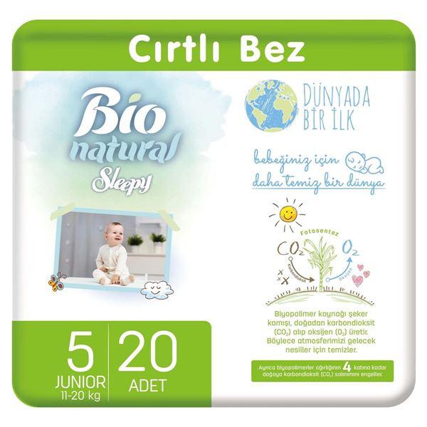 Resim Bio Natural Bebek Bezi 5 Numara Junior 20 Adet