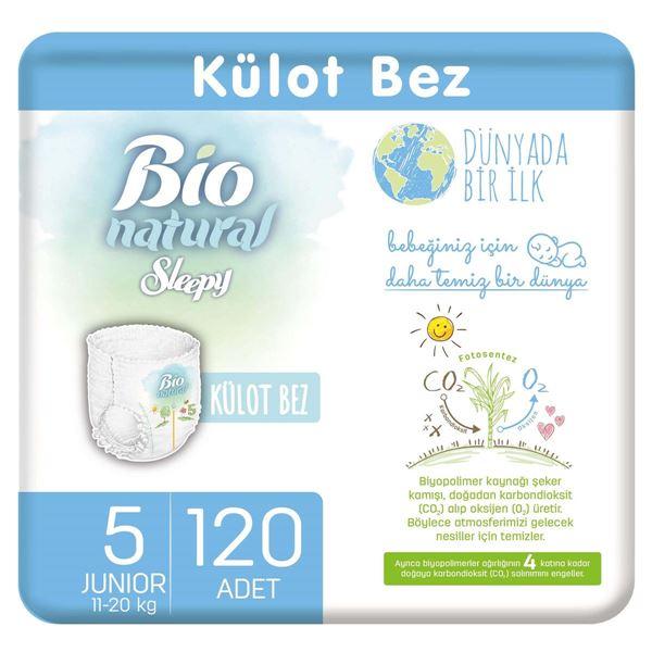Resim Bio Natural Külot Bez 5 Numara Junior 120 Adet