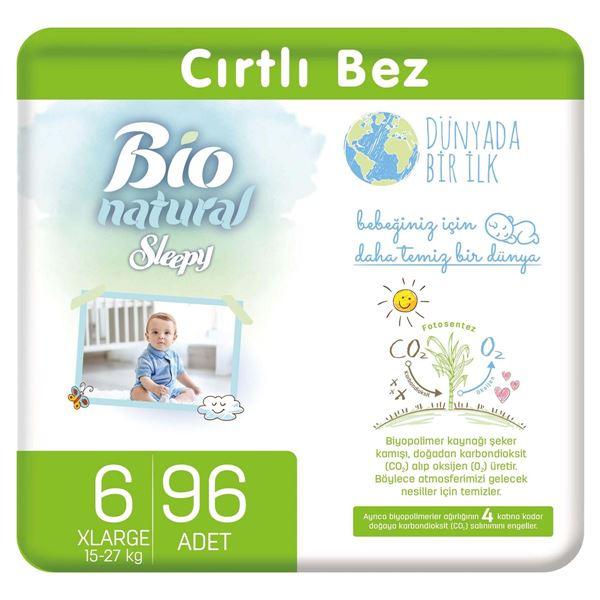 Resim Bio Natural Bebek Bezi 6 Numara Xlarge 96 Adet