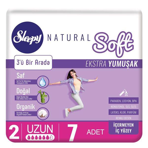 Sleepy Natural Soft Ekstra Yumuşak Uzun (7 Ped)
