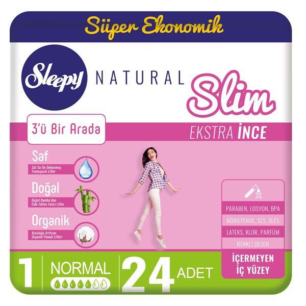 Sleepy Natural Slim Ekstra İnce Normal(24 Ped)