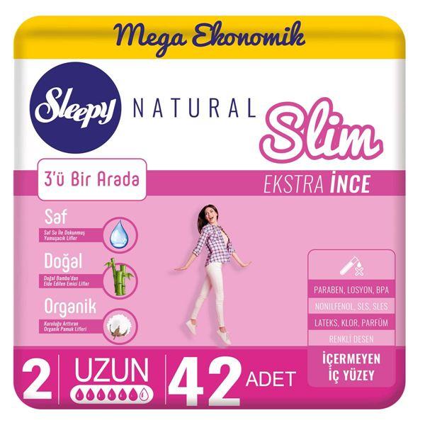 Sleepy Natural Slim Ekstra İnce Uzun(42 Ped)