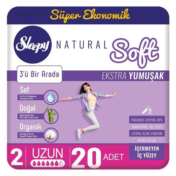 Sleepy Natural Soft Ekstra Yumuşak Uzun(20 Ped)