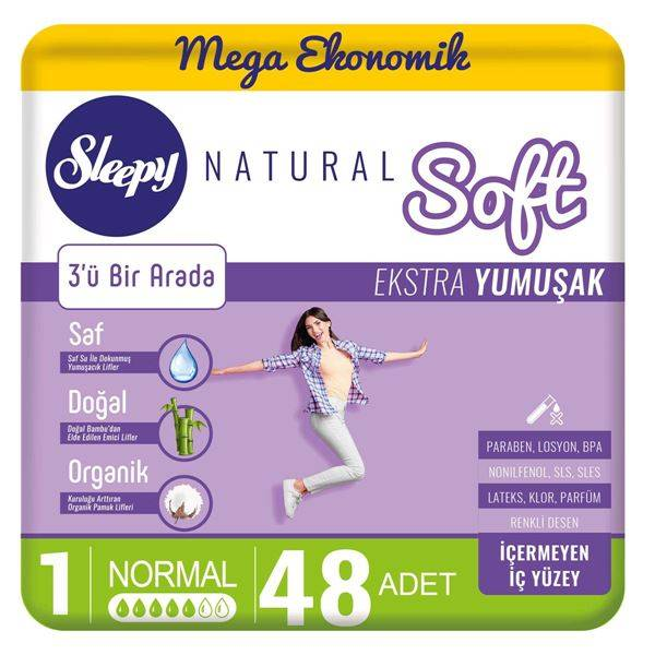 Sleepy Natural Soft Ekstra Yumuşak Normal(48 Ped)