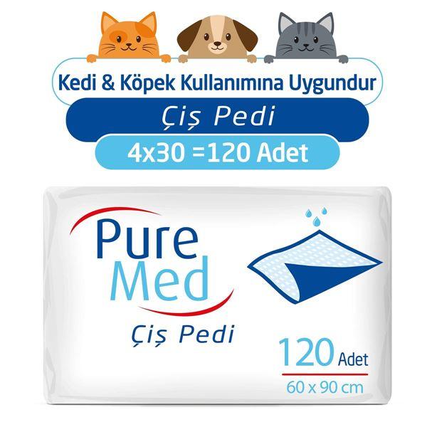 Puremed 60x90 cm Kedi Köpek Çiş Pedi 4X30 (120 Adet)