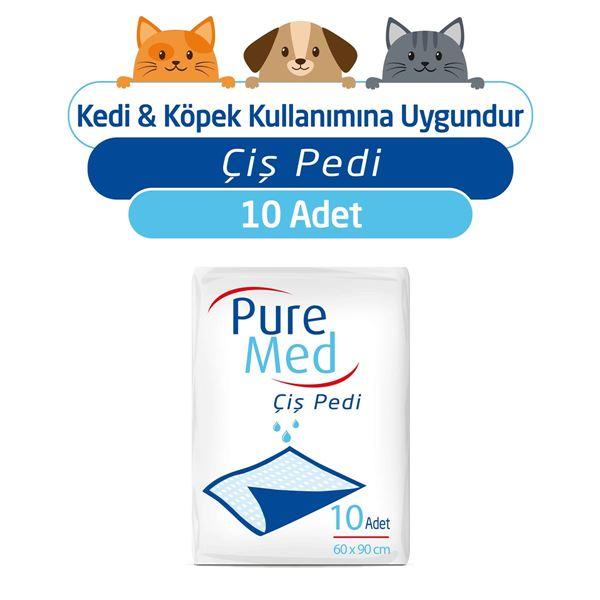 Puremed 60x90 cm Kedi Köpek Çiş Pedi 10 Adet
