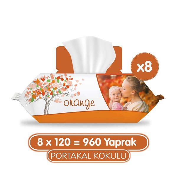 Sleepy Portakal Kokulu Islak Havlu 8x120