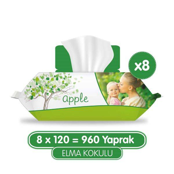 Sleepy Elma Kokulu Islak Havlu 8x120