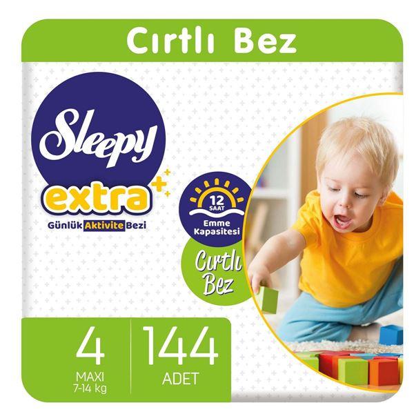 Sleepy Extra Günlük Aktivite Bezi 4 Numara Maxi 144 Adet