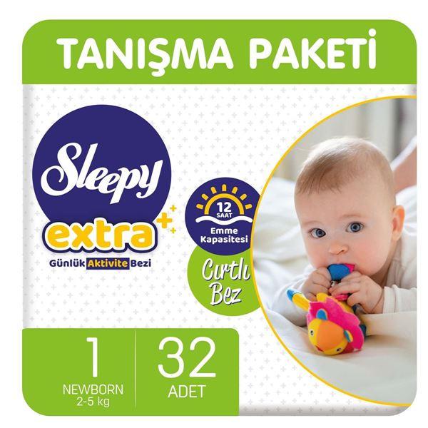Resim Sleepy Extra Günlük Aktivite Bezi 1 Numara Yenidoğan 32 Adet