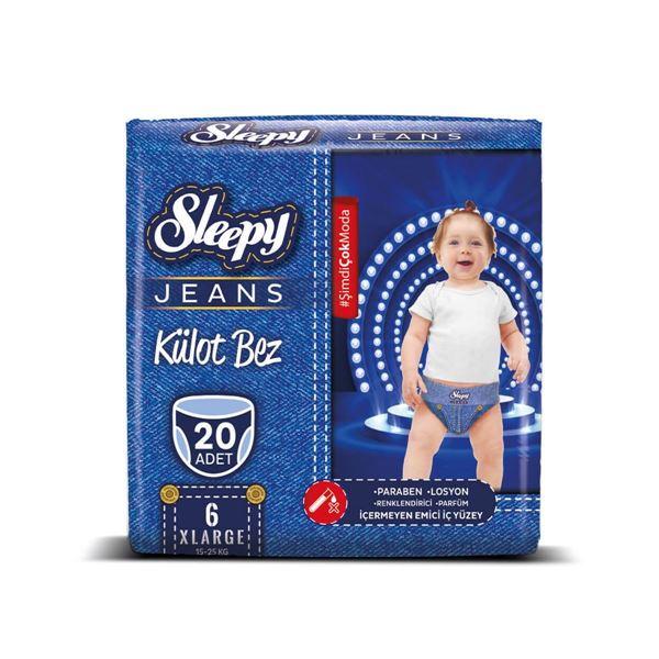 Sleepy Jeans KÜLOT Bez 6 Numara Xlarge 20 Adet