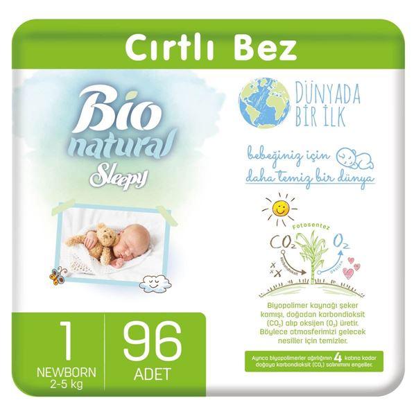Bio Natural Bebek Bezi 1 Numara Yenidoğan 96 Adet