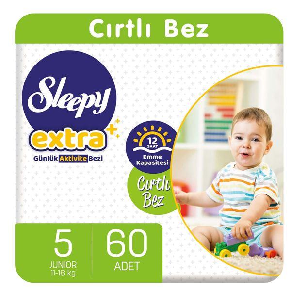 Sleepy Extra Günlük Aktivite Bezi 5 Numara Junior 60 Adet