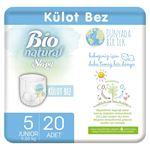 Resim Bio Natural Külot Bez 5 Numara Junior 20 Adet